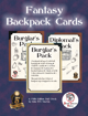 5E Fantasy Backpack Cards