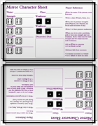 Mirror - Character Sheets