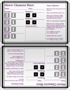 Mirror - Character Sheets