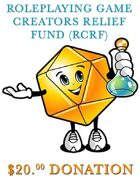 RPG Creators Relief Fund  Donation
