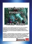Ultimate Psionics Item Cards