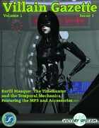 Villain Gazette, Volume 1, Issue 1