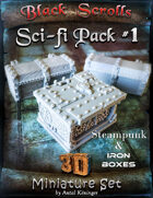 BSG - 3D Sci-fi Sets #1 Steampunk and Iron Boxes