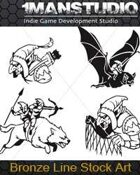 Free Stock Art - 19 Goblin Vector Icons EPS