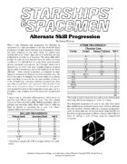 Alternate Skill Progression (Starships & Spacemen 2e)