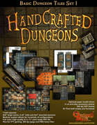 Handcrafted Dungeons:: Basic Dungeon Tiles set 1