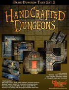 Handcrafted Dungeons:: Basic Dungeon Tiles set 2