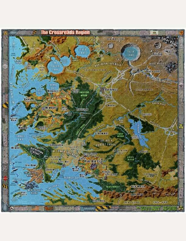 "16x16"" Map:: The Crossroads Region Gazetteer"