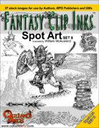 Fantasy Clip Inks:: Spot Art Set 8