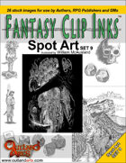 Fantasy Clip Inks:: Spot Art Set 9