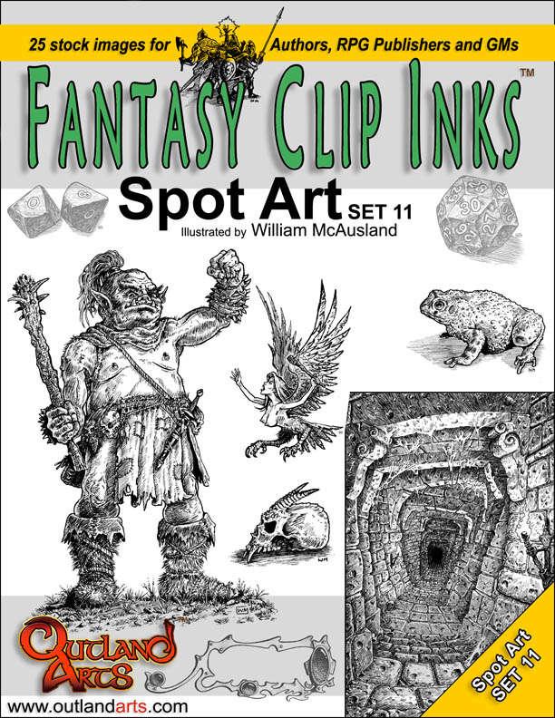 Fantasy Clip Inks:: Spot Art Set 11