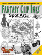 Fantasy Clip Inks:: Spot Art Set 12