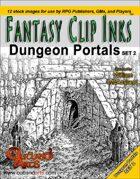Fantasy Clip Inks:: Dungeon Portals set 2
