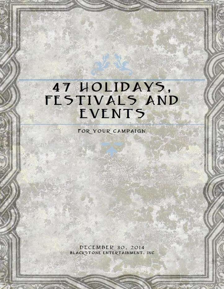 47 Holidays, Festivals, and Special Events for Your Campaign