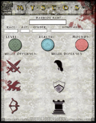 Mystos Warrior Character Sheet