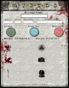 Mystos Wizard Character Sheet