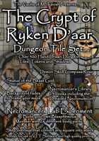 The Crypt of Ryken D'aar Dungeon Tile Set including Build your own Necromancers Laboratory Experiment