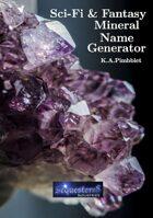 Sci-Fi and Fantasy Mineral Name Generator