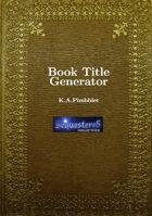 Book Title Generator