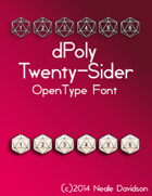 dPoly Twenty-Sider OpenType Font