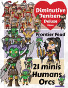Diminutive Denizens Deluxe: Frontier Feud Minis Pack