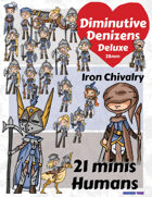 Diminutive Denizens Deluxe: Iron Chivalry Minis Pack