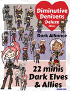 Diminutive Denizens Deluxe: Dark Alliance Minis Pack
