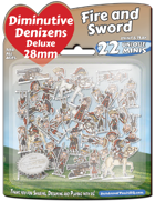 Diminutive Denizens Deluxe: Fire and Sword Minis Pack