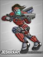 JEStockArt - SciFi - Armored Female Shock Trooper - CNB