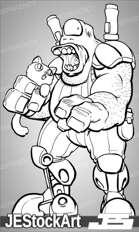 PWYW JEStockArt - Hungry Alien Mercenary