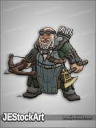 JEStockArt - Fantasy - Dwarven Warrior with Crossbow - CNB