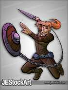 JEStockArt - Fantasy - Female Shield Warrior - CNB