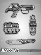 JEStockArt - SciFi - SciFi Weapon Pack 02 - HQG