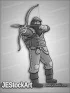 JEStockArt - Fantasy - Rough Woodland Archer - GNB