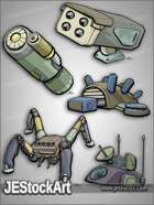JEStockArt - SciFi - Mech Equipment Pack 03