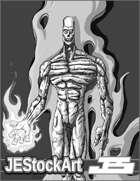 JEStockArt - Supers - Walking Corpse on Fire - LNB