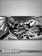 PWYW JEStockArt - Supernatural - Spirit War in the Skies