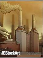 JEStockArt - Modern - Downtown Factory in Smog - CB