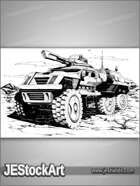 JEStockArt - SciFi - Six Wheeled Vehicle - HQL