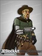JEStockArt - Steampunk - Cybernetic Cowboy Monster Hunter - CNB