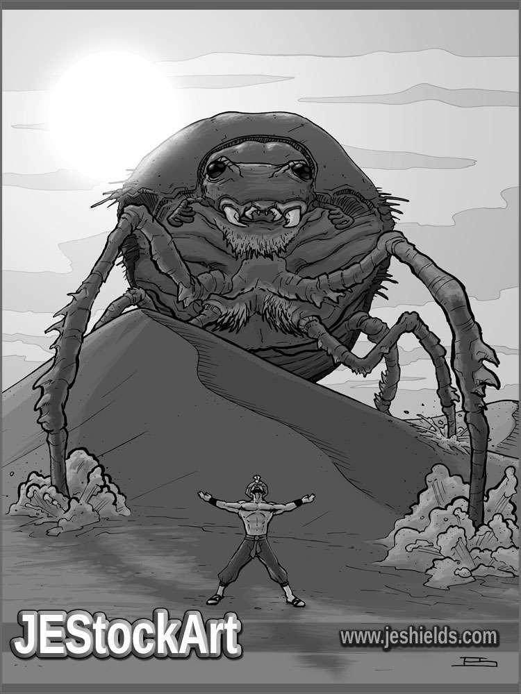 JEStockArt - Fantasy - Summoning a Giant Scarab - GWB