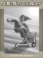 JEStockArt - Fantasy_Arabian - Thief on Flying Carpet - GNB
