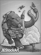JEStockArt - Fantasy_Beast - Giant Stampeding Mammoth - GNB