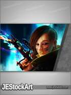 JEStockArt - SciFi - Female Shadow Punk - C