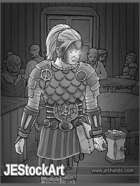 JEStockArt - Fantasy_Cleric - Female Cleric in Vampire Den - GB