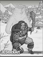 JEStockArt - Fantasy_Fighter_Barbarian - Werebear Barbarian in Snow - GB