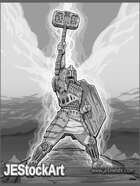 JEStockArt - Fantasy_Fighter_Paladin - Holy Warrior on High - GNB