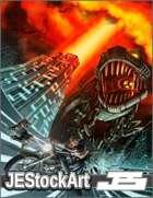JEStockArt - SciFi - Robot T-Rex Chase - HQDP