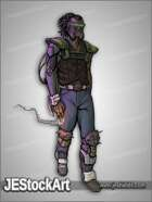 JEStockArt - SciFi - Cyberpunk - Cyberpunk Gang Boss with Cigar - CNB