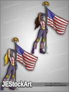 JEStockArt - Supers - Patriotic Woman with Flag - CNB